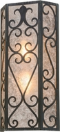 Meyda Tiffany 159022 Mia Antique Iron Gate / Silver Mica Lamp Sconce