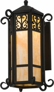 Meyda Tiffany 159209 Caprice Lantern Wrought Iron Wall Sconce Light