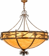 Meyda Tiffany 159721 Lone Pine Rustic New Mica Acrylic Drop Ceiling Lighting