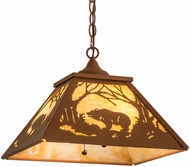 Meyda Tiffany 159800 Bear at Dawn Country Earth / Ba Ceiling Light Pendant