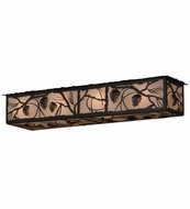 Meyda Tiffany 159992 Whispering pines Timeless Bronze Overhead Lighting Fixture