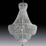 Meyda Tiffany 160122 Beethoven Crystal / Chrome Chandelier Light
