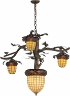 Meyda Tiffany 160189 Acorn Branch Rustic Antique Copper Burnished Chandelier Light
