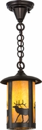 Meyda Tiffany 160626 Rustic Ha Craftsman Mini Pendant Light Fixture