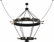 Meyda Tiffany 160840 Korset Modern Black Chandelier Light