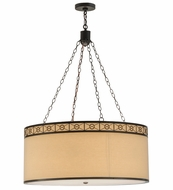 Meyda Tiffany 161029 Cilindro Circle X Timeless Bronze Drum Hanging Pendant Lighting