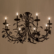 Meyda Tiffany 161106 Pinecone Country Chestnut Chandelier Lighting