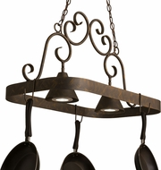 Meyda Tiffany 161509 Elana French Bronze Island Lighting Pot Rack