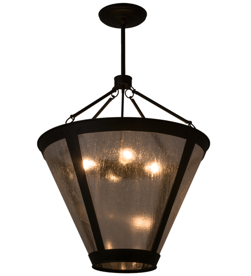 Tiffany Hanging Light Fixtures Tiffany 161879 Van Erp Black Clear Seedy Glass Hanging Light Fixture