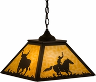 Meyda Tiffany 162725 Rustlers Country Timeless Bronze / Ba Drop Lighting Fixture