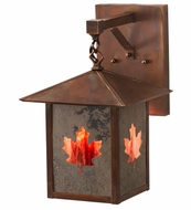 Meyda Tiffany 162733 Seneca Maple Leaf Slate Burgundy Vintage Copper Exterior Wall Mounted Lamp