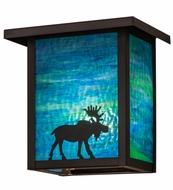 Meyda Tiffany 163102 Hyde Park Moose Brown Blue/Green Outdoor Wall Sconce Light