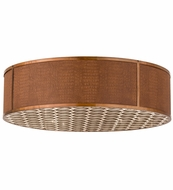 Meyda Tiffany 163349 Cilindro Gator Transparent Copper Ceiling Light Fixture