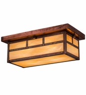 Meyda Tiffany 163423 Double Bar Mission Craftsman Bai Vintage Copper Ceiling Lighting Fixture