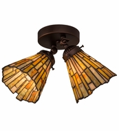 Meyda Tiffany 163434 Delta Jadestone Tiffany Mahogany Bronze Ceiling Light Fixture
