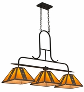 Meyda Tiffany 163601 Biltmore Copper Rust/Tea Stained Acrylic Island Light Fixture