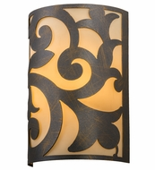 Meyda Tiffany 163662 Rickard French Bronze/Ivory Acrylic Fluorescent Wall Lamp