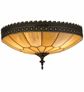 Meyda Tiffany 163939 Vincent Honeycomb Brown Highlighted Flush Ceiling Light Fixture