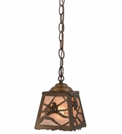 Meyda Tiffany 164758 Spruce Pine Antique Copper/Silver Mica Mini Pendant Light