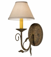 Meyda Tiffany 165111 Bordeaux Organic Rust Lighting Wall Sconce