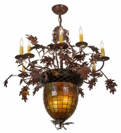 Meyda Tiffany 165173 Greenbriar Oak Rustic Rust Chandelier Lighting