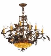Meyda Tiffany 165485 Greenbriar Oak Country Antique Copper Burnished Lighting Chandelier