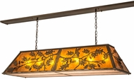 Meyda Tiffany 166417 Oak Leaf & Acorn Rustic Antique Copper / Amber Mica Kitchen Island Light Fixture