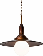 Meyda Tiffany 166792 Schotel Contemporary Tapered Cone Transparent Copper Hanging Lamp