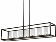 Meyda Tiffany 167450 Affinity Contemporary Timeless Bronze Island Lighting