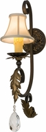 Meyda Tiffany 169783 Ingrid Timeless Bronze w/ Gold Leaf Accent Lamp Sconce