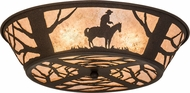 Meyda Tiffany 170453 Cowboy Rustic Dark Roast / Silver Mica Overhead Lighting