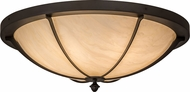 Meyda Tiffany 170829 Dominga Oil Rubbed Bronze Flush Mount Lighting Fixture