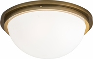 Meyda Tiffany 171108 Commerce Buttered Brass Flush Mount Ceiling Light Fixture