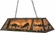 Meyda Tiffany 171294 Battling Bucks Country Antique Copper / Silver Mica Island Lighting