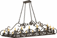 Meyda Tiffany 171344 Carlotta Timeless Bronze Kitchen Island Lighting