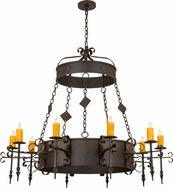 Meyda Tiffany 171606 Diamante Oil Rubbed Bronze Chandelier Light