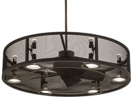 Meyda Tiffany 171612 Paloma Golpe Contemporary Oil Rubbed Bronze Chandel-Air Home Ceiling Fan