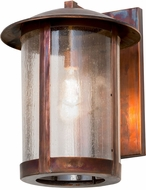 Meyda Tiffany 171899 Fulton Seedy Glass Vintage Copper Outdoor Wall Mounted Lamp