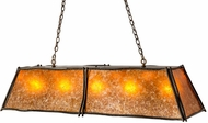 Meyda Tiffany 172116 Sticks Antique Copper / Amber Mica Island Light Fixture