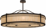 Meyda Tiffany 172287 Sargent Timeless Bronze / Carmel Onyx Drum Drop Lighting Fixture