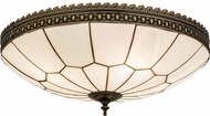 Meyda Tiffany 172293 Vincent Honeycomb Craftsman Brown Highlighted Ceiling Light Fixture