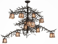 Meyda Tiffany 173025 Pine Branch Valley View Dark Roast / Silver Mica Halogen Chandelier Light