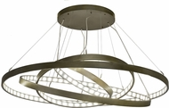 Meyda Tiffany 173164 Anillo Contemporary Black Hills Gold LED Ceiling Chandelier