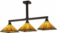 Meyda Tiffany 173756 Prairie Corn Tiffany Craftsman Brown Kitchen Island Light Fixture