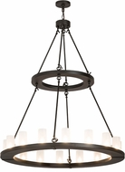 Meyda Tiffany 173814 Loxley Contemporary Oil Rubbed Bronze / Clear Frosted Chandelier Light