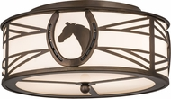 Meyda Tiffany 174228 Horseshoe Rustic Antique Copper / White Idalight Overhead Light Fixture