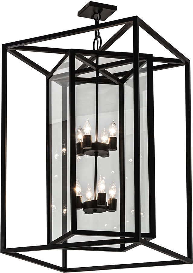 meyda 174264 kitzi box modern blackwash foyer