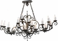 Meyda Tiffany 174336 Kean Traditional Smoke Kitchen Island Light
