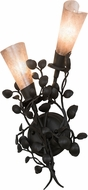 Meyda Tiffany 174344 Vinca Vine Wrought Iron / Silver Mica Wall Lighting Sconce