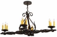 Meyda Tiffany 174436 Elianna Chestnut Textured Island Light Fixture